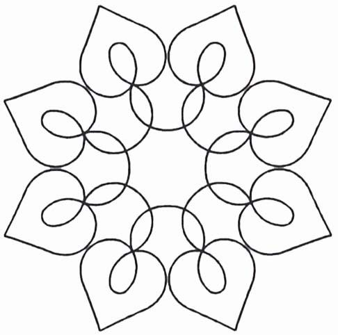 Free Heart Quilting Stencils : 112 best images about Quilt Motifs - Circles on Pinterest Quilt, Machine quilting and Star ...