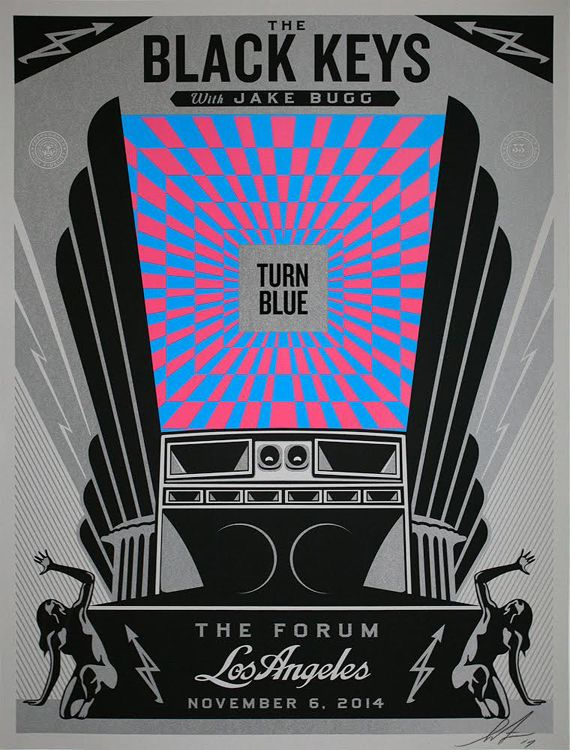 The Black Keys LA concert poster | Shepard Fairey