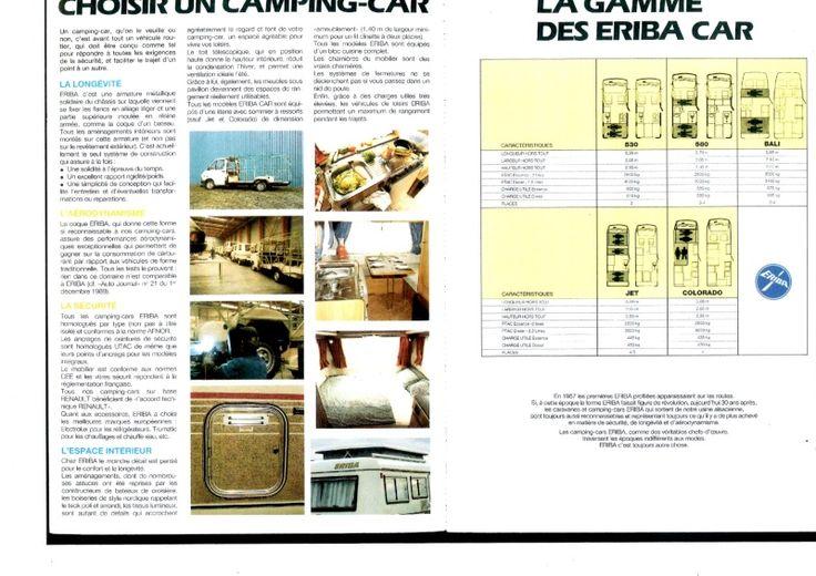 catalogue camping car eriba
