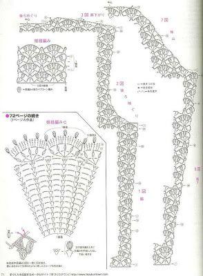 Crochê Tricô - Gráficos: Casaco Masculino em Crochê