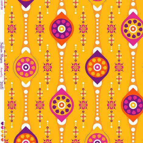 Saffron stripes fabric by zesti on Spoonflower - custom fabric