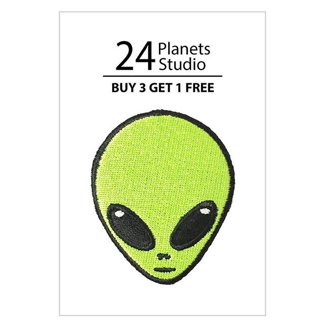 Alien Head Iron on Patch Set by 24PlanetsStudio #24PlanetsStudio  #hipster #nerd #Geek #indie #shirt #jacket #bag #hat #cap #jeans #shopping #irononpatch #patch #etsy #etsyseller #girl #girls #cute #alien #ufo #nasa #gift #gifts #universal #astro #astrology #galaxy #moon #differencemakesus
