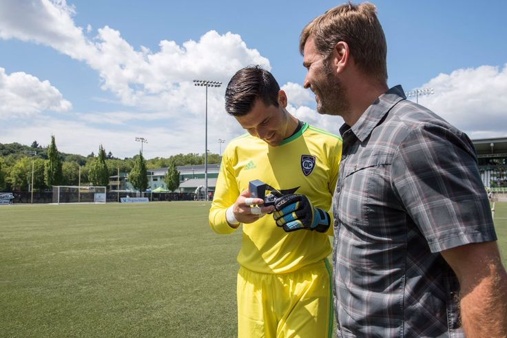 Prior to today's match, Club Director of Goalkeeping Tommy Dutra presented Charlie_Lyon_ with his MLS Cup ring!  #AlwaysASounder  Seattle Sounders (S2) vs. Orange County SC at Starfire stadium (July 16th, 2017)