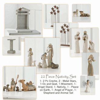 22 Piece Willow Tree Nativity Set