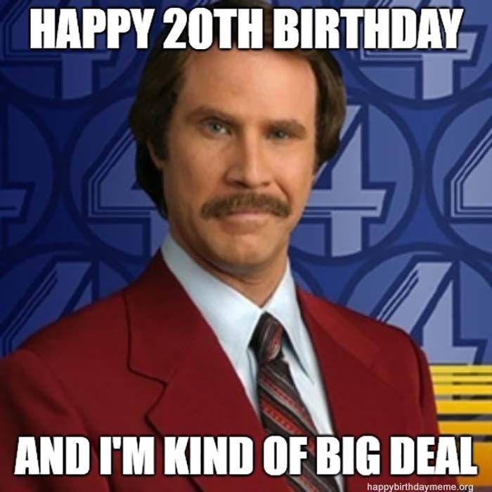 Pin On 20th Birthday Meme