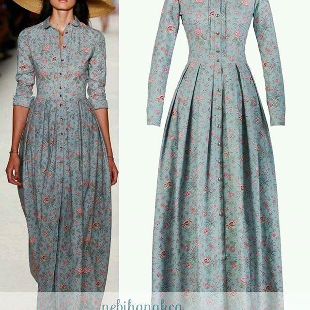 Hem çiçekli hem mavi bir günaydın gelsin herkese  . . . #vintagedress #elbisesevengiller #nebihanakca #moda #butik