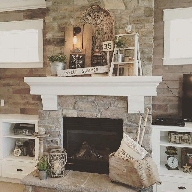 Yellow prairie interiors modern farmhouse pinterest for Prairie style fireplace