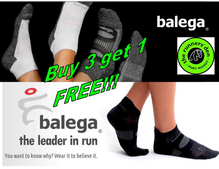 Special sock promotion in March at The Runners' Den