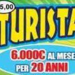 Impiegata 50enne di Roma vince al 'Turista per sempre' una rendita ventennale di 6.000€ al mese, più 300.000€ subito e 100.000€ alla fine.