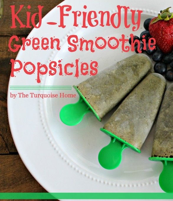 Kid-Friendly Green Smoothie Popsicles - great way to sneak in the veggies!