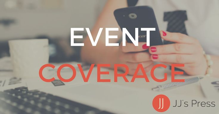 Looking for local affordable media coverage for your next event? Let us take care of the messy content work while you enjoy your happening and your guests. Learn more -   http://jjspress.com/event-coverage/ #socialmedia #eventcoverage #media #services
