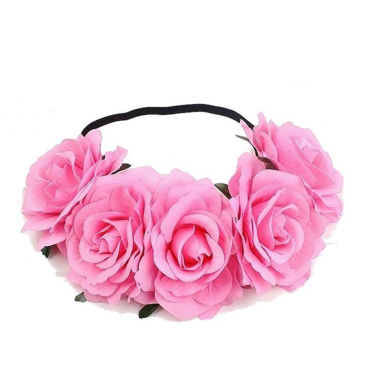 Good Deal Hot Sale Girl Crown Floral Rose Flower Headband Hairband Wedding Hair Garland Headpiece 1PC_U00442
