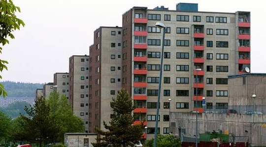 A suburb to Stockholm, the captial of Sweden. This one is called Fittja and is sited south of Stockholm city.