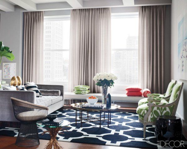 Living Room Inspiration Gray Walls Sofa Navy Rug Now I Just Need Some Pretty Green Chairs
