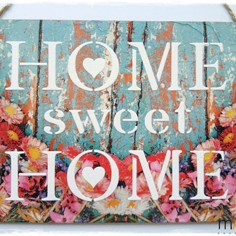 Decorate your home with this lovely home decor piece from @mandibo.handmade  Buy your piece here: https://mandibohandmade.soldigo.com/tablita-home-sweet-home-kep_40103 #turnyourhobbyintoacareer #makealivingdoingwhatyoulove #sellonlinewithsoldigo