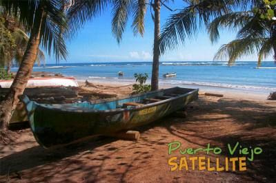 Puerto Viejo Satellite - Map, Hotels, Transport, Tours, Restaurants for the South Caribbean area of Costa Rica