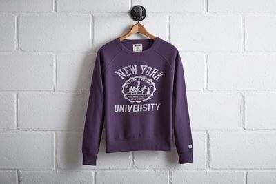 Tailgate NYU Crew Sweatshirt by  American Eagle Outfitters | NYU's football legacy will forever be captured by the iconic figure of Ed Smith, the 1930s NYU football star and model for the Heisman Trophy. Shop the Tailgate NYU Crew Sweatshirt and check out more at AE.com.