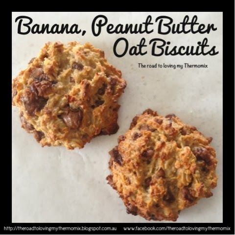 Banana, Peanut Butter and Oat Biscuits