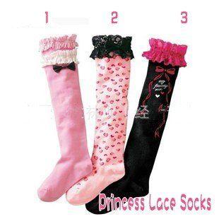 Dhl EMS бесплатная доставка малышей ребенок дети принцесса кружевные с бантом длинные носки ноги теплые, Леггинсы 3 цветов в наличии 25 пар/лот
