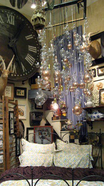 Anthropologie Window: Lights, Store Window Display Ideas, Anthropologie Display, Clock, Anthropologie Bedroom, Window Displays Ideas, Lightbulbs, Bedroom Ideas