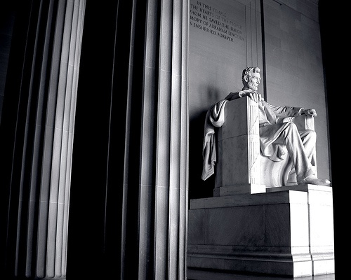Washington DC's monuments...this one is Lincoln in Black and White #ridecolorfully