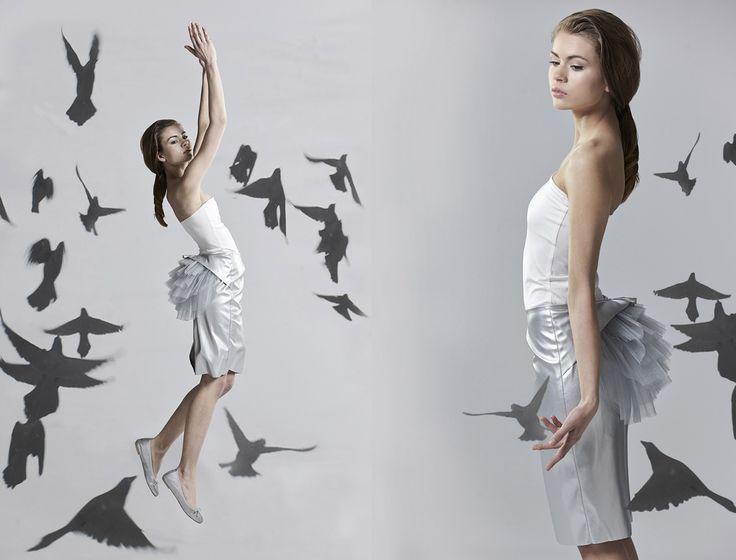 IN.NA beautiful girl wearing a silver skirt