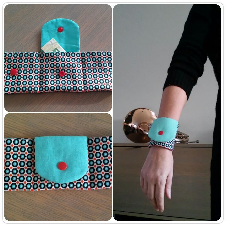 Just Made by Mie: Polsportemonnee. Wrist wallet