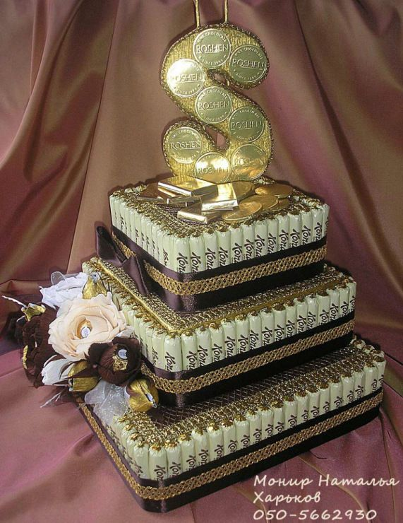 Gallery.ru / Фото #60 - Тортики из конфет - monier