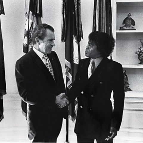 James Brown supported Richard Nixon during the 1972 presidential election.