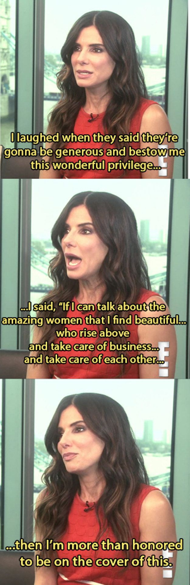 "And, ultimately, how she feels about being named ""World's Most Beautiful Woman."" 