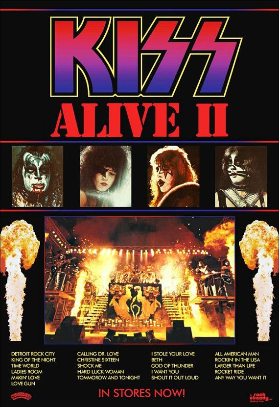 Kiss76 de banda KISS KISS Poster vivo 2 promocionales pie pantalla # 3 beso coleccionables beso recuerdos regalo Idea beso ejército de 1970 Kiss KISS