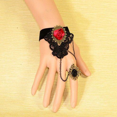 Beora #Red #Rose #Gothic #Fashion #Bracelet @ Rs.499 By #Trendymela.com