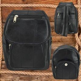 New Genuine Soft Seepskin Leather Backpack Ladies Women Black LB55602