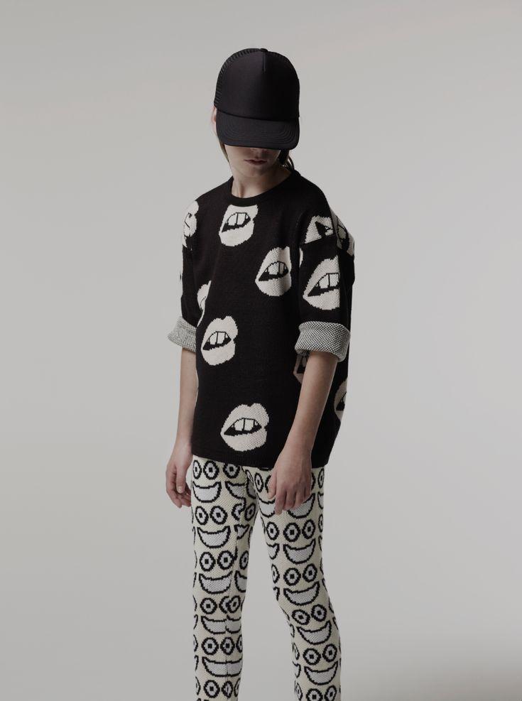 Knitwear by Caroline Bosmans for kidswear spring 2015 with Emoji inspiration