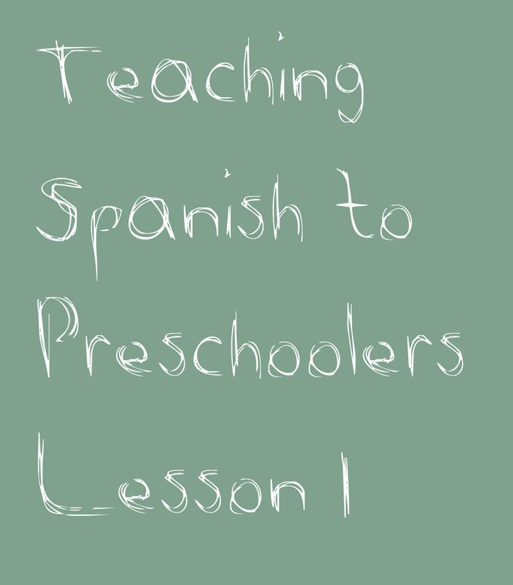 spanish lesson idea... My old elementary school started Spanish class in Kindergarden. This is so smart.