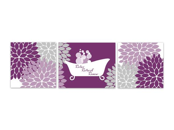 bathroom wall art purple bathroom decor