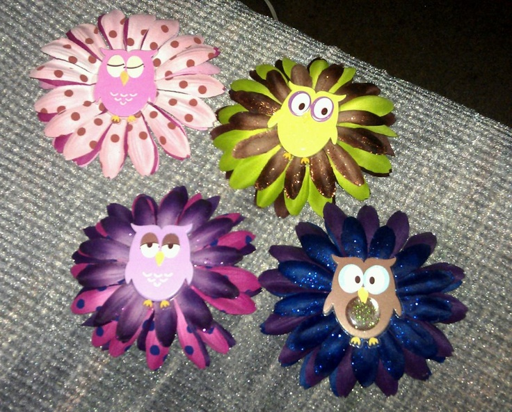 Hair Barrettes I made for my girl with the left over flowers I had from making their Easter Baskets.