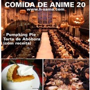 Como fazer Torta de abóbora? Pumpkin Pie (Hogwarts HP Party)   www.h-sama.com