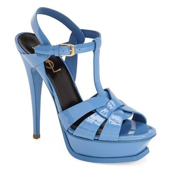 Saint Laurent \u0026#39;Tribute\u0026#39; T-Strap Sandal (\u20ac815) ? liked on Polyvore ...