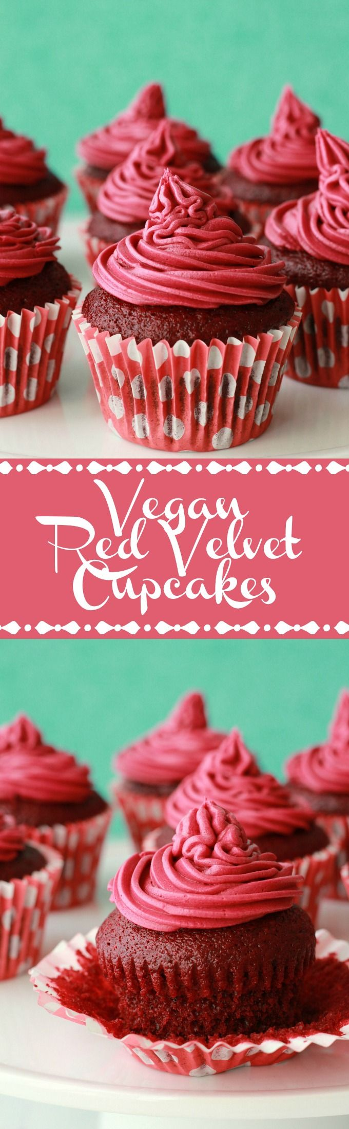 Vegan Red Velvet Cupcakes with Red Velvet Frosting #vegan #lovingitvegan…