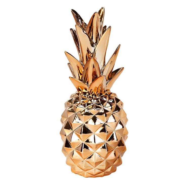 The most glamorous pineapple you'll ever see! Use it as decoration with our metallic collection, or decorate your house or office with it! 9 IN Tall