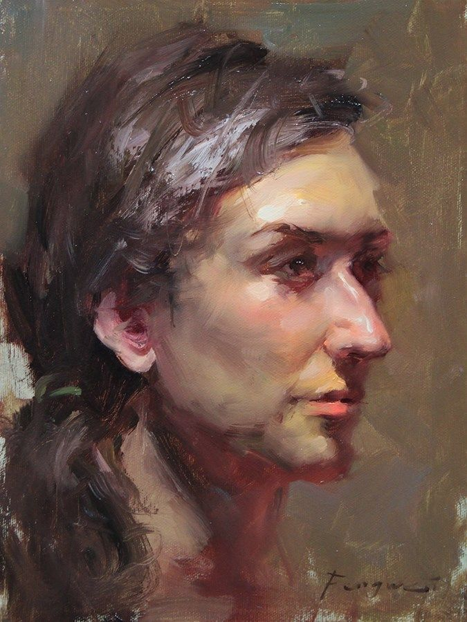 Original Fine Art By C Fongwei Liu In The Dailypaintworks Com Fine Art Gallery Portrait Art Portrait Painting Oil Painting Portrait