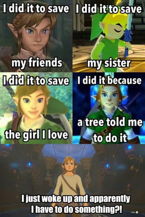 Link did it because….