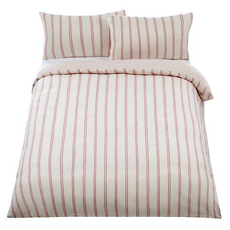 Buy John Lewis Super Cosy Thin Stripe Flannelette Bedding Online at johnlewis.com