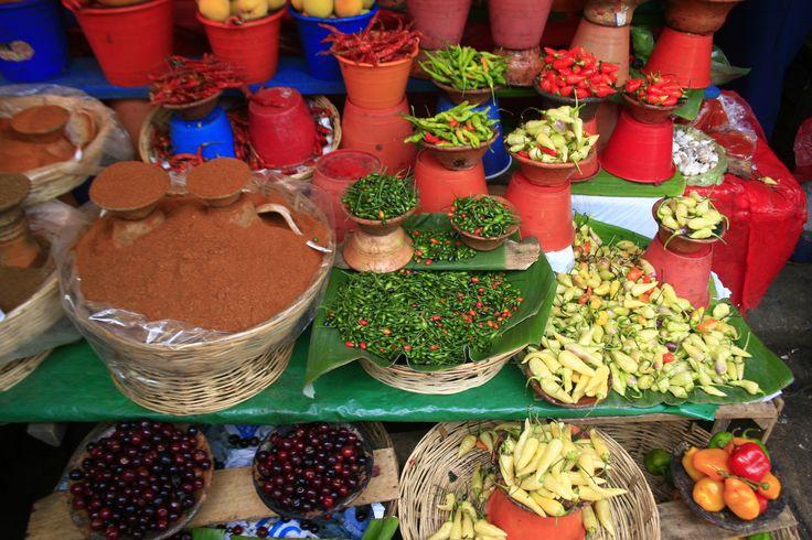 Variedades de Chiles en el Mercado, San Cristóbal de las Casas, México