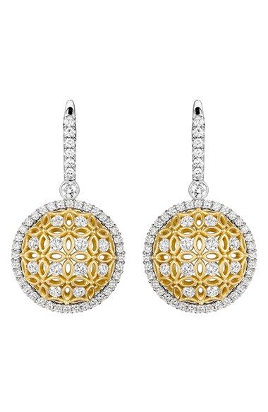 Jack Kelege 'Gatana' Diamond Drop Earrings