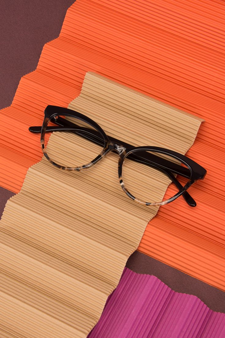 Reverie cateye frame in Dark Tortoise. Classic colours put together in two-tone
