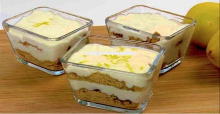 Como fazer uma deliciosa sobremesa gelada de limão e biscoito em 5 minutos e sem levar ao forno! | Cura pela Natureza