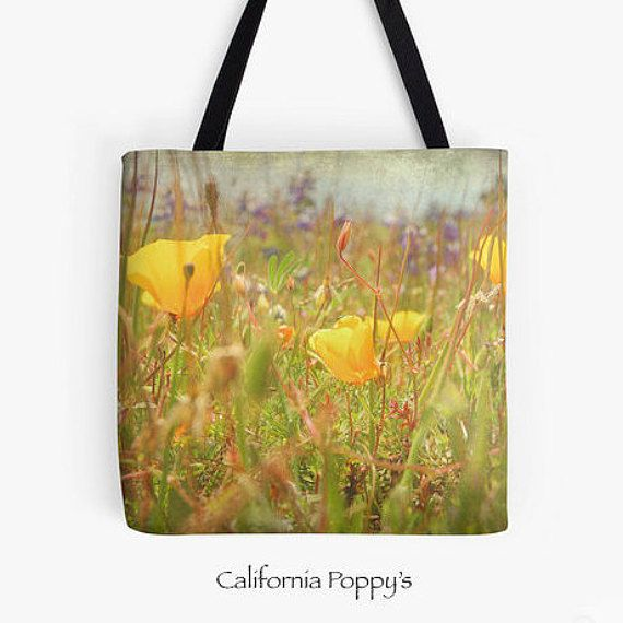 Tote Bag  Flowers Pink Blossoms Poppys Dahlia by LaughingDogStudio