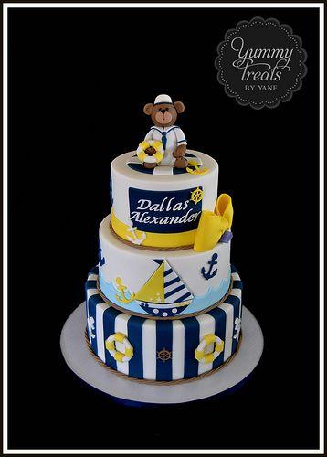 Nautical Baby Shower Cake!